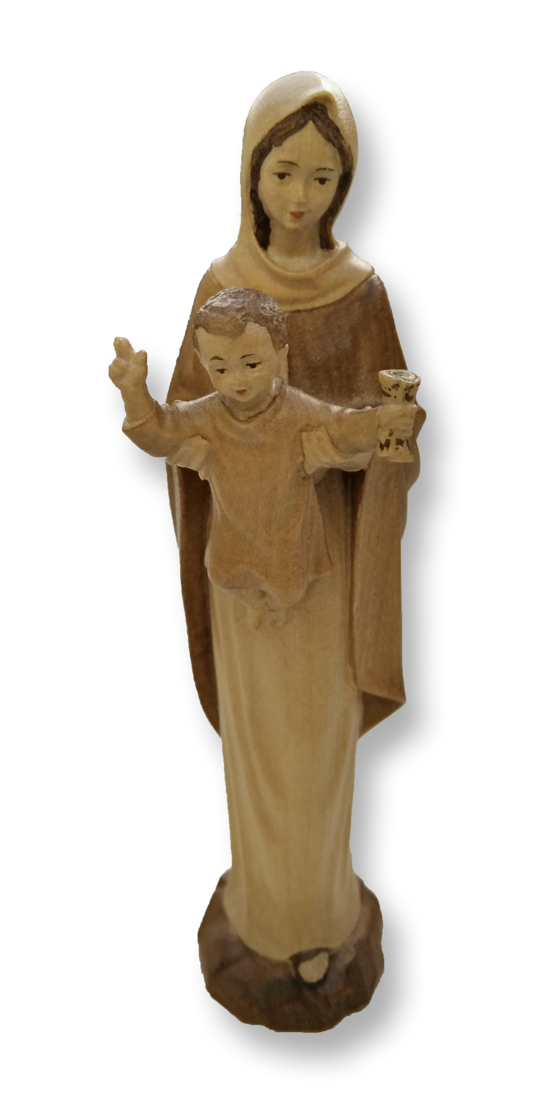 Mary Queen of Apostles Wooden Statue 14cm