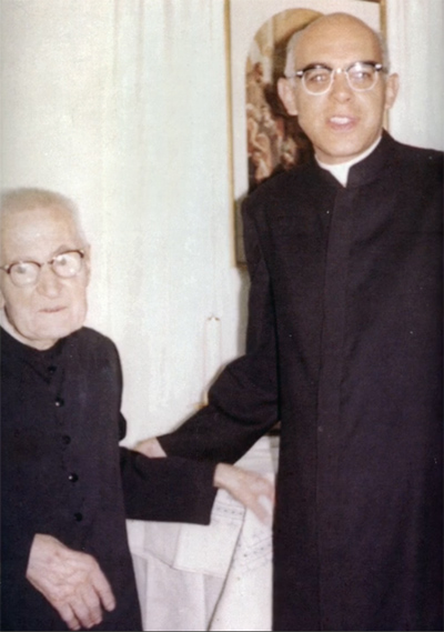 Brother Millela with Blessed James Alberione