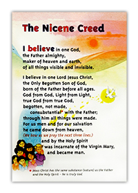 Petite Card, laminated, with the Nicene Creed