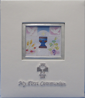 Embroidered Photo Frame - Communion