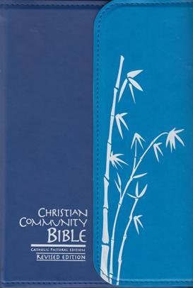 Christian Community Bible - Blue with magnetic flap