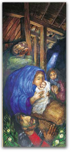 Rosenberg Nativity - Christmas poster