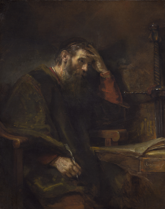 Rembrandt, The Apostle Paul (detail)