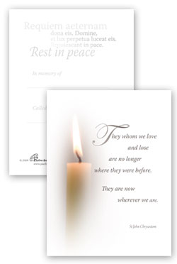 Eternal Light petite picture card 1 - pack of 25