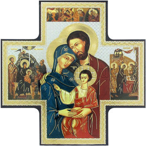 Icon Cross Holy Family