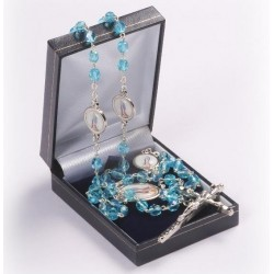 Rosary Clear Blue & Our Lady of Lourdes 913/