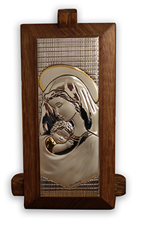 Plaque Madonna & Child Silver CAR2/HC1