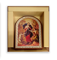 Plaque Our Lady of the Knots  Standing AR20/MSN