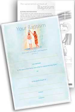 Baptism -  Certificate No.5 - pack of 25