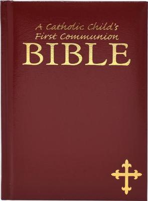 A Catholic Child's First Communion Bible Burgundy