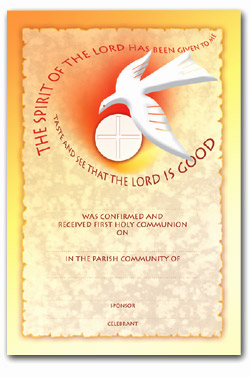 Communion & Confirmation - Certificate No. 1 - pack of 25