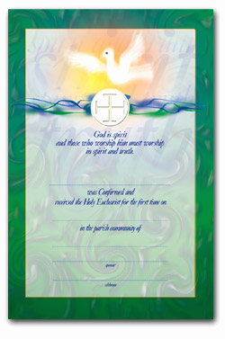 Communion & Confirmation - Certificate No. 3 - pack of 25