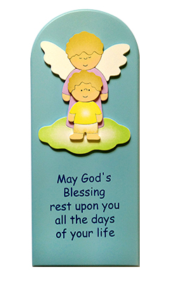 Plaque 1716DAZI Boy Blessings Blue