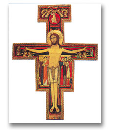 Crucifix of St Francis - 5 postcards