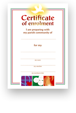 Enrolment - Certificate No. 1 - pack of 25