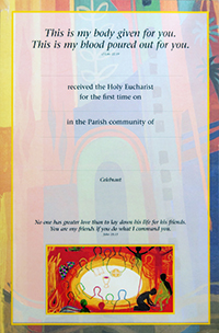 Certificate 92/FHC4 Communion Pack of 25