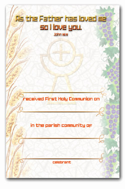 Certificate 92/FHC6 Communion Pack of 25