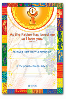 Certificate 92/FHC7 Communion Pack of 25