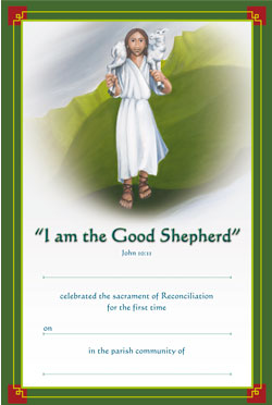 Jesus the Good Shepherd - Reconciliation Certificate  - pack of 25