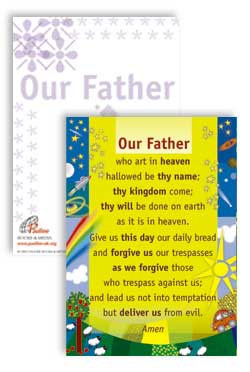 Our Father - PrayerPosters cards  (Pack of 25)