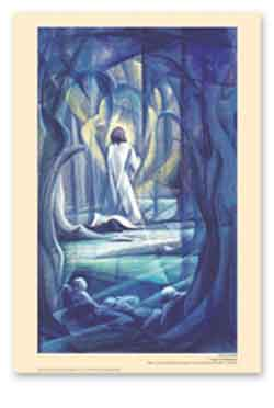 Prayer at Gethsemane -  New Life poster