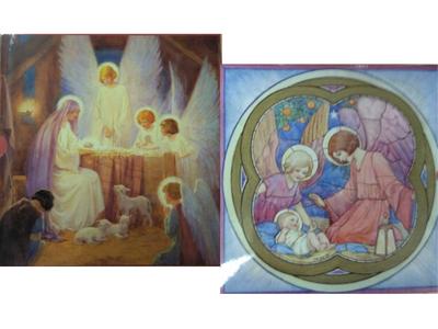 Card Christmas XMTB 0025 16 cards Two Designs Nativity Scene
