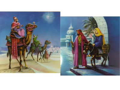 Card Christmas XMW 0056 10 cards Two Designs Nativity/Kings