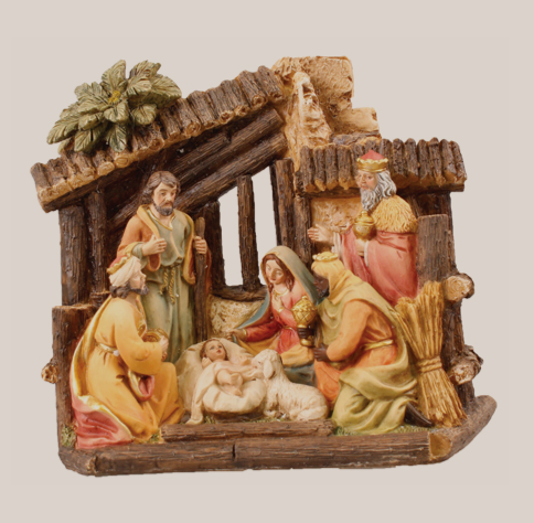 Nativity Set 89638 with Shed Resin 7 figures 5