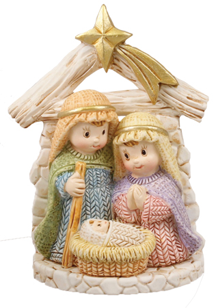 Nativity Set 89225 Resin Holy Family Children's 3