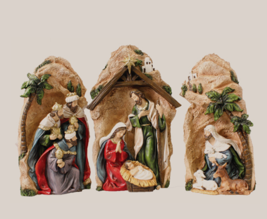 Nativity Set 89626 Resin 9 Figures 7 1/2