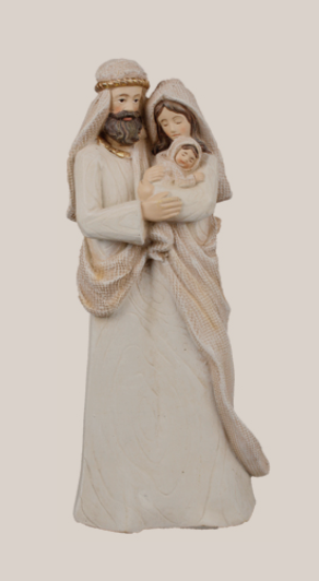 Nativity Set 89395 Holy Family Angel Stone Effect 11