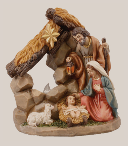 Nativity Set 89677 with Light Resin Holy Family 5""