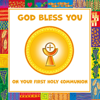 God Bless You on Your First Holy Communion (Pack of 5)