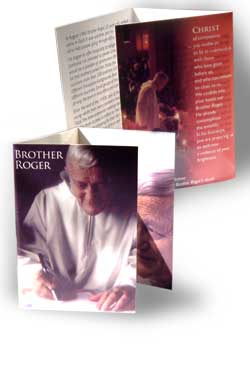 Brother Roger - pack of 10 prayer cards