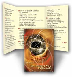 Canticle of Praise for the Media - pack of 10 prayer cards