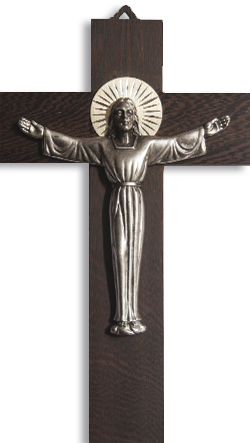 Crucifix 1084 Walnut 20cm
