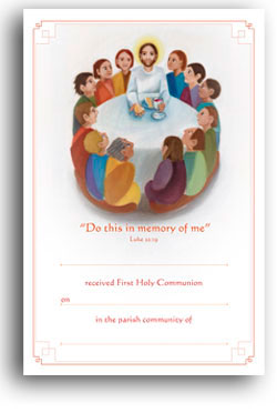 First Holy Communion - Certificate No.10 - pack of 25