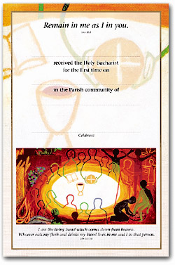 First Holy Communion - Certificate No. 2 - pack of 25