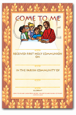 First Holy Communion - Certificate No. 9 - pack of 25