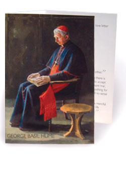 George Basil Hume - pack of 10 prayer cards