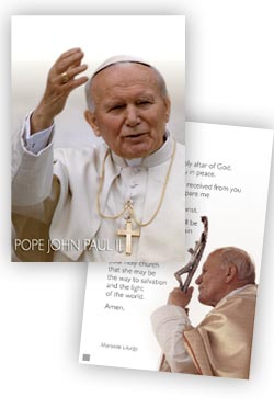 John Paul II - pack of 10 prayer cards