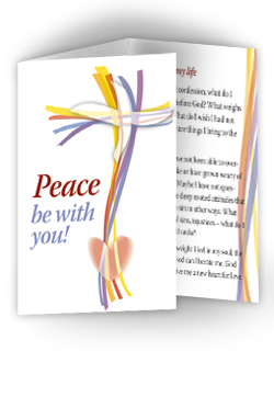 Peace Be with You - pack of 10 prayer cards