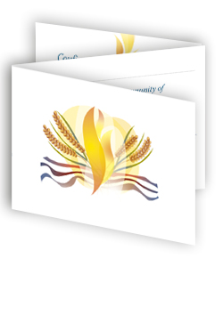 Reception of Adults - pack of 10 three-fold cards