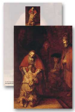 Return of the Prodigal Son  whole - 5 meditation cards